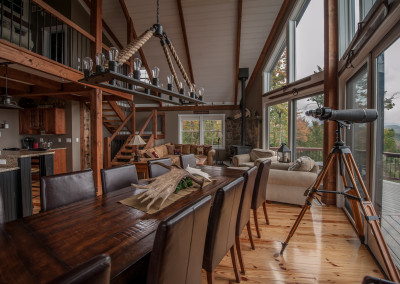 Moose Ridge Lodge – Rustic Mountain Post & Beam
